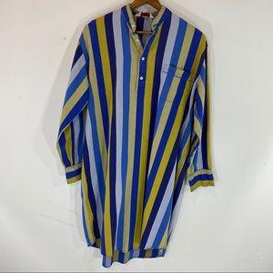 Derek Rose Stripe Night Shirt